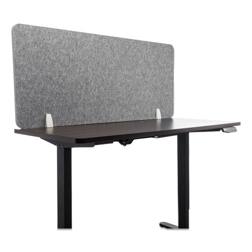 Desk Screen Cubicle Panel And Office Partition Privacy Screen, 47 X 1 X 23.5, Polyester-nylon, Ash