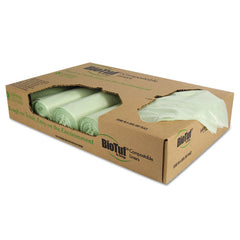 Biotuf Compostable Can Liners, 48 Gal, 1 Mil, 42