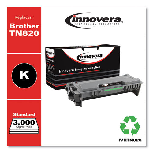 Remanufactured Black Toner Cartridge, Replacement For Brother Tn820, 3,000 Page-yield