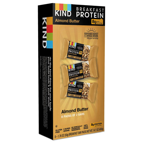 Breakfast Protein Bars, Dark Chocolate Cocoa, 50 G Box, 8-pack