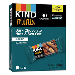 Minis, Dark Chocolate Nuts-sea Salt, 0.7 Oz, 10-pack