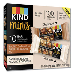 Minis, Salted Caramel And Dark Chocolate Nut-dark Chocolate Almond And Coconut, 0.7 Oz, 20-pack