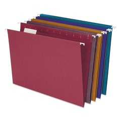 Earthwise By Pendaflex 100% Recycled Colored Hanging File Folders, Letter Size, 1-5-cut Tab, Assorted, 20-box