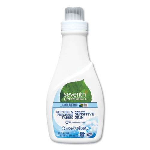 Natural Liquid Fabric Softener, Free And Clear-unscented 32 Oz, Bottle