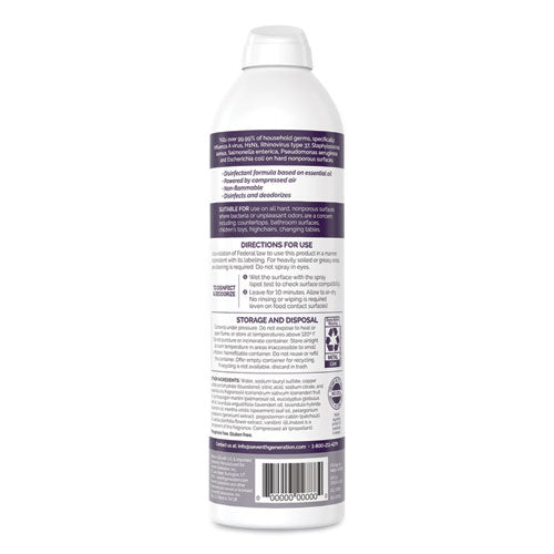 Disinfectant Sprays, Lavender Vanilla-thyme, 13.9 Oz, Spray Bottle, 8-cart