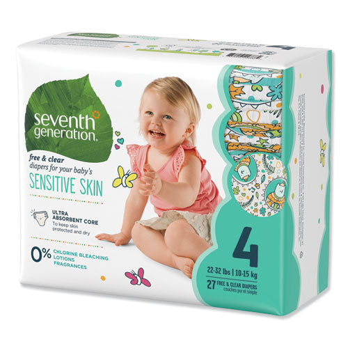 Free And Clear Baby Diapers, Size 4, 22 Lbs To 32 Lbs, 108-carton