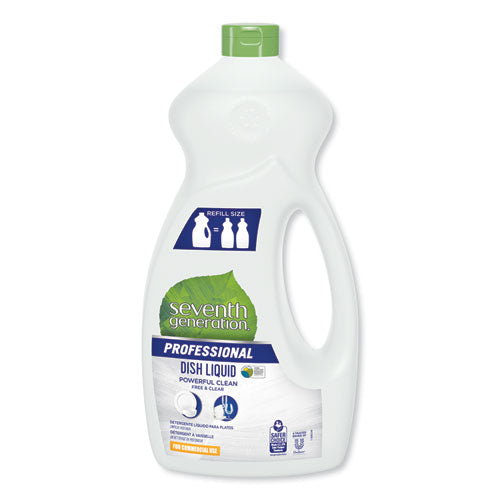 Dishwashing Liquid, Free And Clear, Jumbo 50 Oz Bottle