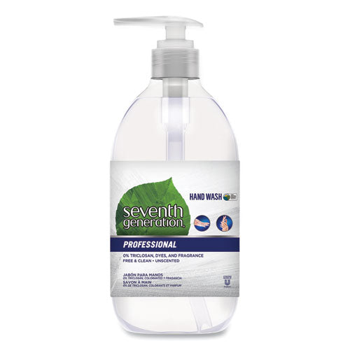 Natural Hand Wash, Free & Clean, Unscented, 12 Oz Pump Bottle