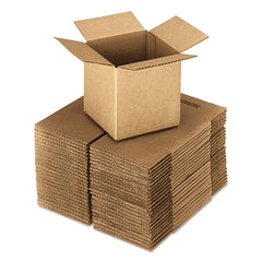 Cubed Fixed-depth Shipping Boxes, Regular Slotted Container (rsc), 24