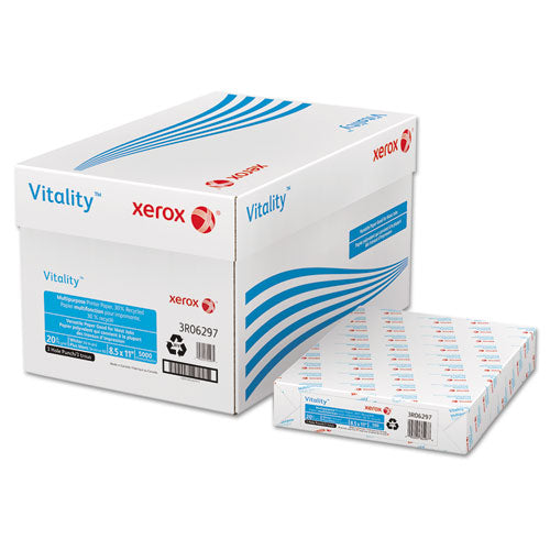 Vitality 30% Recycled Print Paper, 92 Bright, 3-hole, 20lb, 8.5 X 11, White, 500-ream