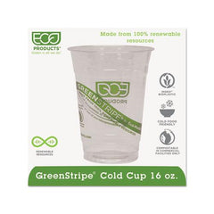 Greenstripe Renewable & Compostable Cold Cups - 16oz., 1,000 Count