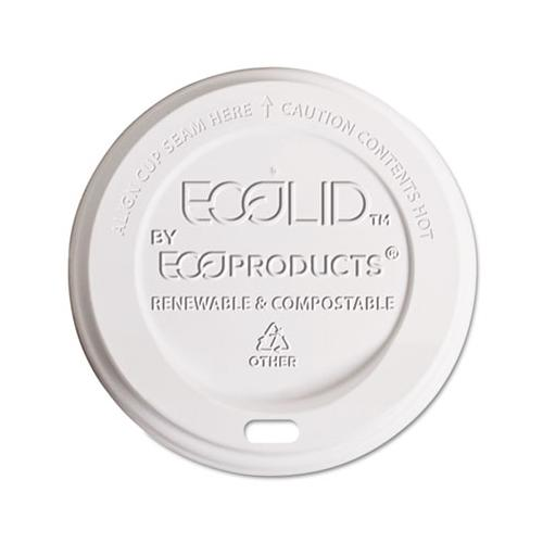 Eco-Lid Renewable-Compostable Hot Cup Lids, Fits 8 Oz Hot Cups, 800 Count