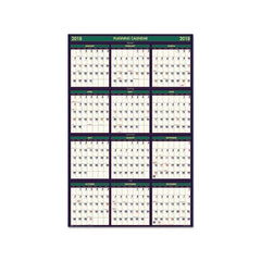 Recycled Four Seasons Reversible Business-academic Calendar, 24 X 37, 2020-2021