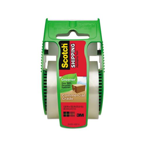 Greener Commercial Grade Packaging Tape With Dispenser, 1.5