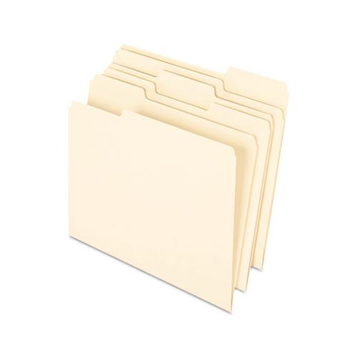 Earthwise By 100% Recycled Manila File Folders, 1-3-cut Tabs, Letter Size, 100-box