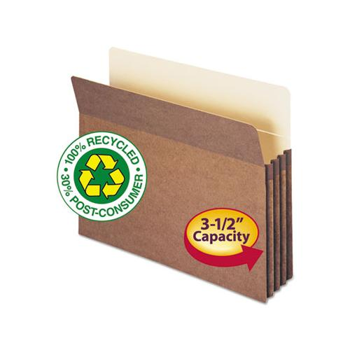 100% Recycled Top Tab File Pockets, 3.5