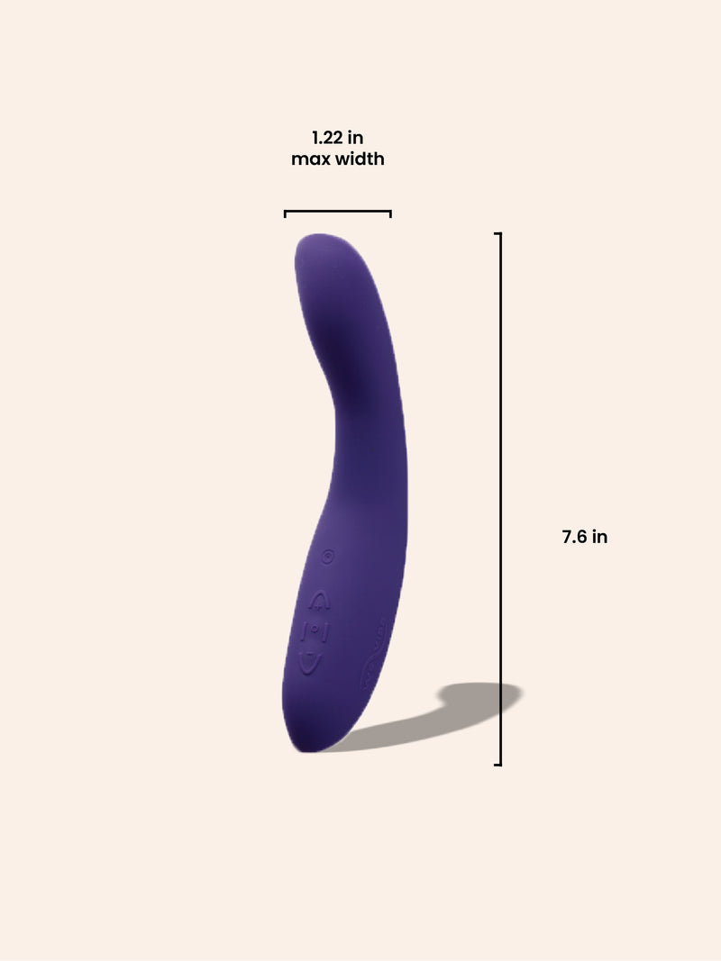 We-Vibe Rave G-Spot Vibrator MMURE Product Dimensions