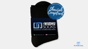 100% waterproof, breathable, and Shari'ah compiant socks for wuzu