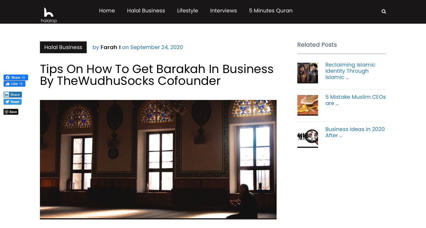 Halalop Interview with The Wudhu Socks - Socks for wudhu - masah over socks