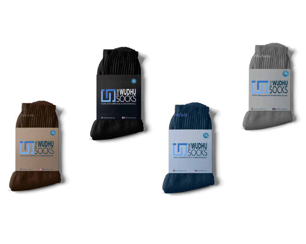 different colors of The Wudhu Socks, khuffain, masah socks, socks for wadhu- Waterproof Socks for Muslims. Prayer Socks & Namaz Socks & Wudu Socks