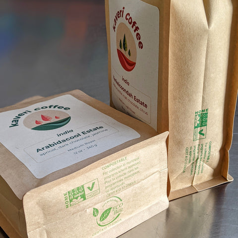 biodegradable home compostable coffee bags eco-friendly sustainable packaging