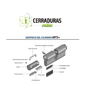 Cilindro MT5+ Europerfil, MUL-T-LOCK