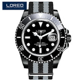 LOREO Automatic Mechanical Watches Diver Sport 200M Luxury Brand Men's Watches Business Wrist watch Male Clock Relogio Masculino