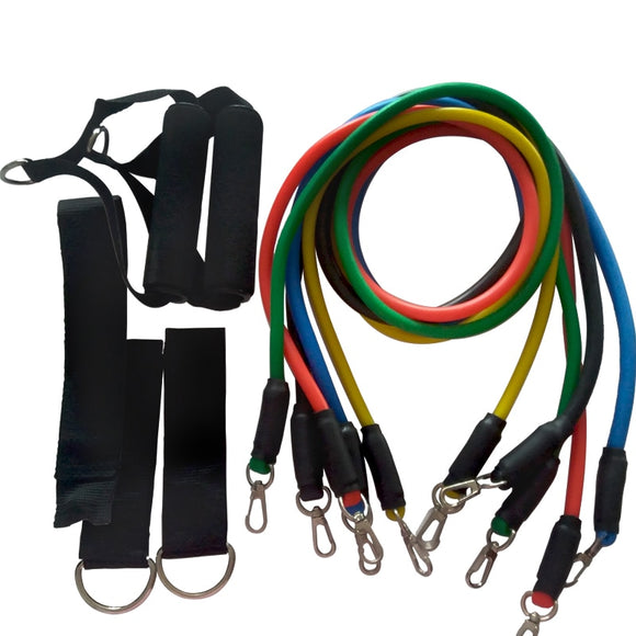 YOUGLE Fitness Equipments Workout Resistance Bands Latex 11pcs/set Exercise Pilates Tubes Pull Rope Expanders Training