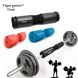 Vigor Power Gear Barbell Squat Pad with 2 pcs straps for Bar, Weight lifting -foam exercise sponge protects neck and shoulders
