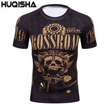 Men's Workout Clothes Short Sleeve Compression Shirt 3D Full Printing MMA Bodybuilding Tshirts Mens Gear Tee&Top Jerseys