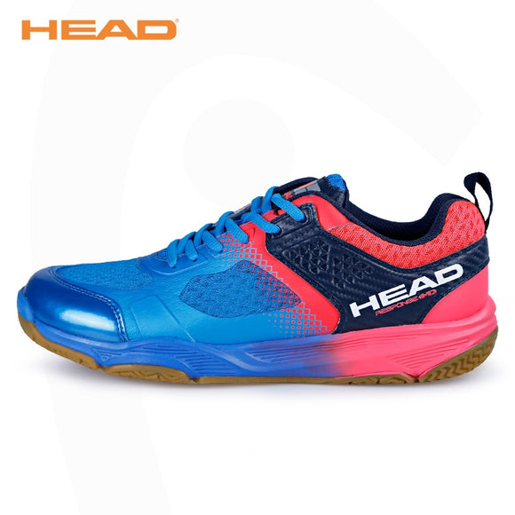 HEAD Light Breathable Badminton Shoes for Men Lace-up Sport Shoes Men's Training Athletic Shoe Anti-Slippery Tennis Sneakers