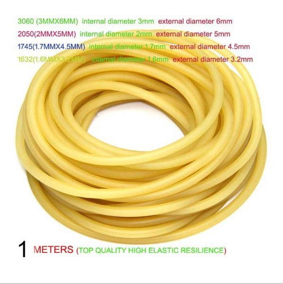 1m/lot  Natural Latex Slingshots Rubber Tube Tubing Band For Hunting Catapult Elastic Part Fitness Bungee Equipment