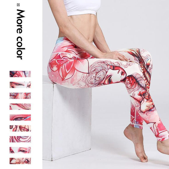 12Color Yoga Pants Gear Elastic Exercise Tights Jogging Jogger Fitness Women Compression Running Trousers Gym Yoga Slim Leggings