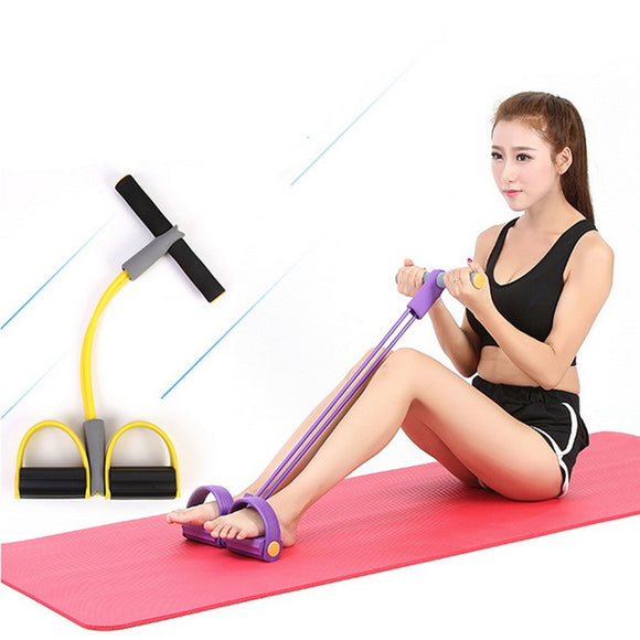 New Single Tube Strong Fitness Resistance Bands Latex Pedal Exerciser Women Men Sit Up Pull Ropes Yoga Fitness Equipment