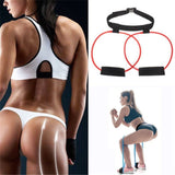 XC Women Booty Butt Band Resistance Bands Adjustable Waist Belt Pedal Exerciser for Glutes Muscle Workout Fitness Equipment