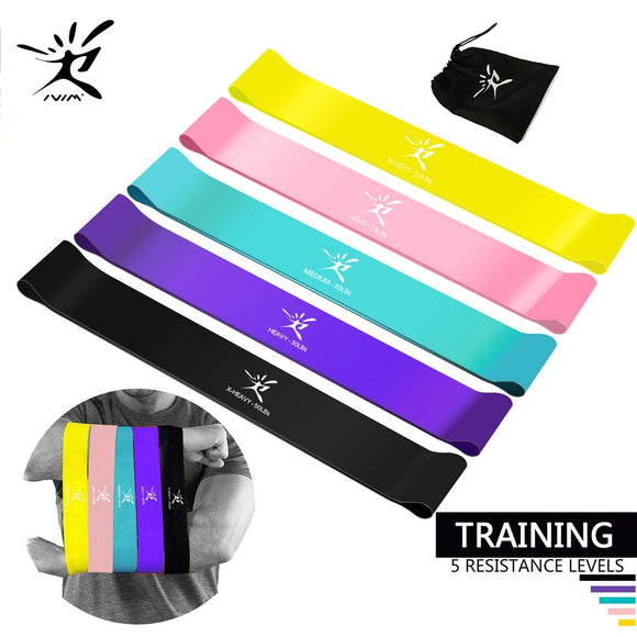 Fitness Gum Resistance Loop Bands Elastic Band for Fitness Equipment Eco-Friendly Latex Yoga Pilates Exercise Power Flexibility