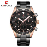NAVIFORCE Top Luxury Brand Watches Men Fashion Casual Quartz 24 Hours Date Sport Watch Man Full Steel Business Waterproof Clock