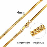 Vnox 3-6MM Silver Tone Snake Cocoon Curb Link Flat Box Wheat Chains Stainless Steel Men Necklace Choker Jewelry 24 inch