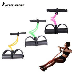 New Fitness Gear Rubber Leg Pull Straps Chest Expander Leg Exerciser Resistance ropes  for feet unisex
