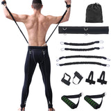 100lbs Fitness Resistance Bands Set for Arms Legs Strength and Agility Workout Equipment Boxing Basketball Jump Force Training
