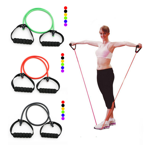 1pc Pro New Latex Resistance Bands Workout Exercise Yoga Crossfit Fitness Tubes Pull Rope Fitness Exercise Equipment Tool