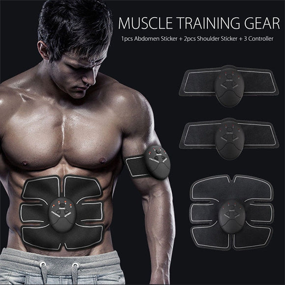 Man Woman Smart Stimulator Training Fitness Gear Muscle Abdominal Shape Exerciser Toning Belt Battery Abs Fit Homes Exerciser
