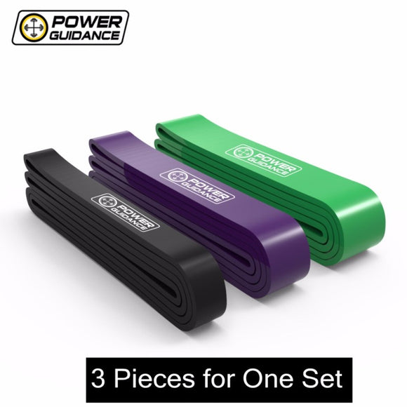 POWER GUIDANCE 3pcs/Set Fitness latex Rubber Resistance Bands Elastic Bands For Fitness Equipment Power Band Workout Training