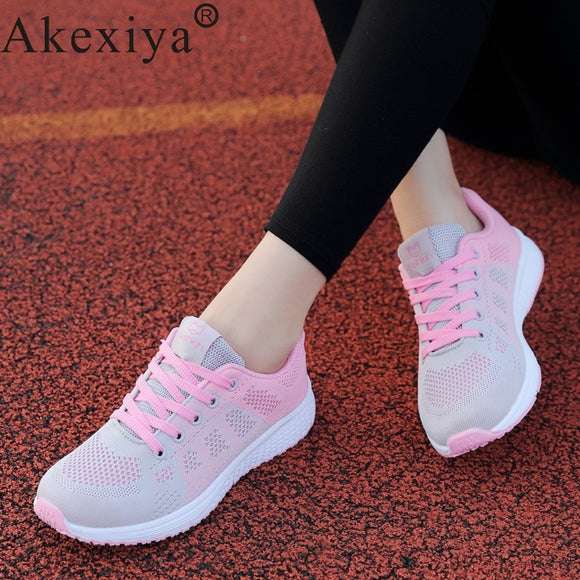 Akexiya Sport Shoes Woman Running Shoes For Men Women Sneakers Gym Trainers Ladies Athletic 2019 Autumn Footwear Basket Femme