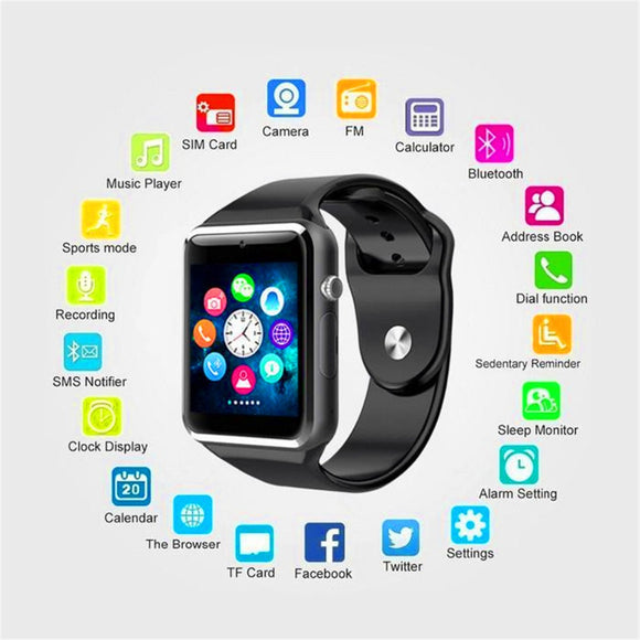 DZ09 New Smartwatch Intelligent Digital Sport Gold Smart Watch DZ09 Pedometer For Phone Android Wrist Watch Men Women's  Watch
