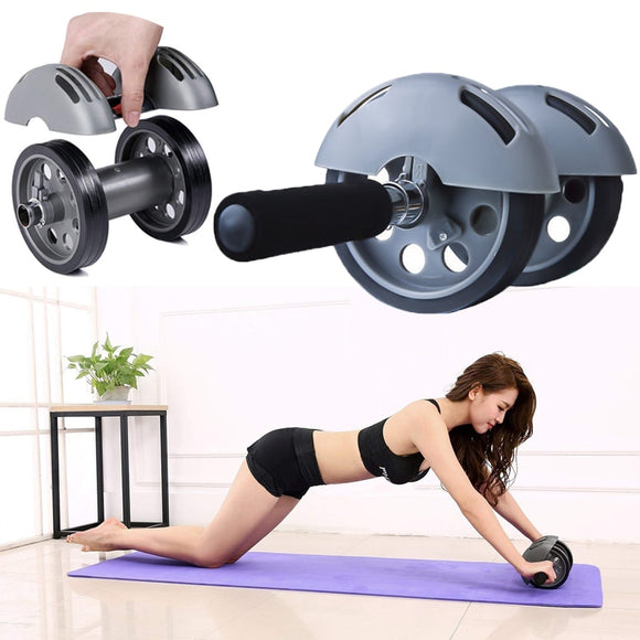 No-noise Abdominal Wheel Exercises Workout AB Roller Muscle Trainner With Mat Fitness Gear Body Building Wheel