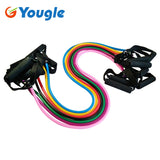 YOUGLE Pilates Latex Tubing Expanders Exercise Tubes Strength Resistance Band Sets Fitness Equipment Pull belt Rope