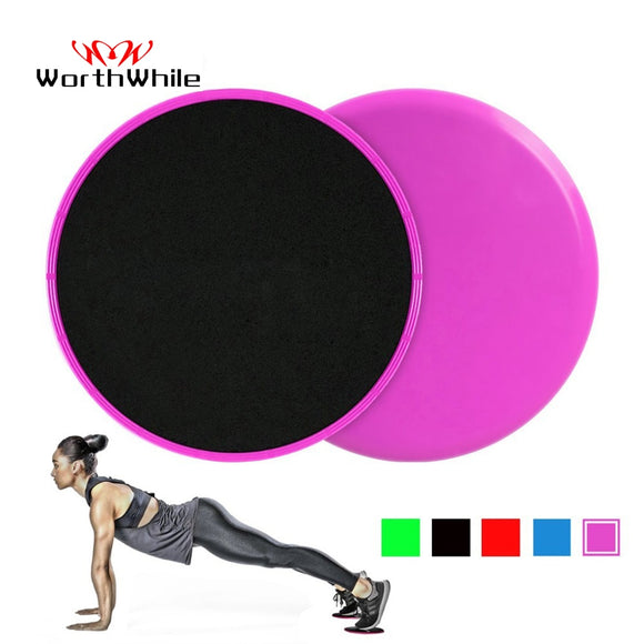 WorthWhile 1 Set Gym Fitness Core Sliders Gear On Carpet Hardwood Floors Home Abdominal Exercise Equipment Workout Accessories