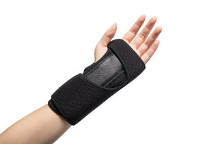 Wristbands rehabilitation exercise gear with a sprained wrist fracture fixation splint men's and women's hands