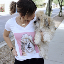 Load image into Gallery viewer, Custom Woman's V-neck T-Shirt Featuring Your Pet